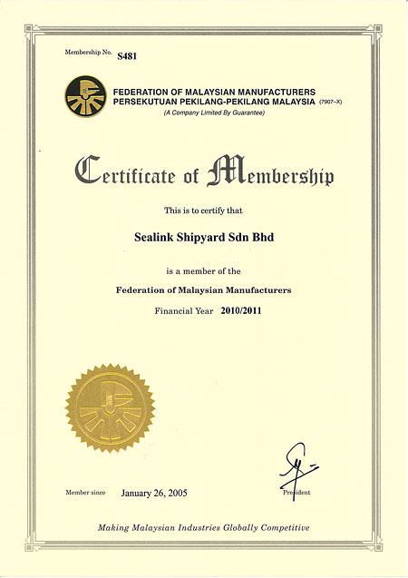 recognition of sealink international berhad